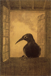 The Raven by Odilon Redon