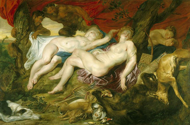Diana and her Nymphs Spied Upon by Satyrs by Peter Paul Rubens