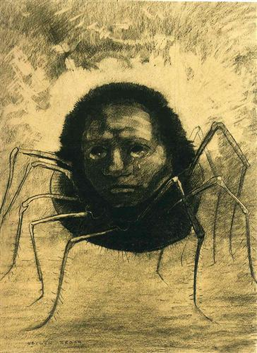 The Crying Spider by Odilon Redon