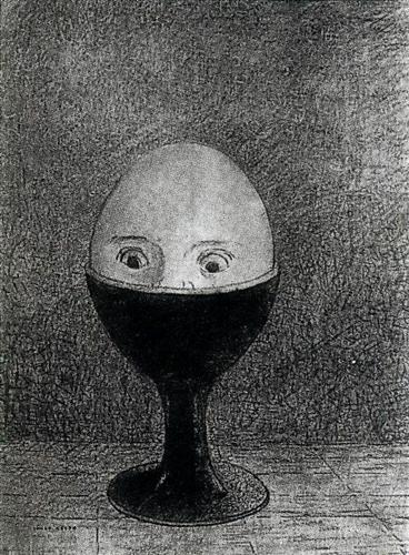 The Egg by Odilon Redon